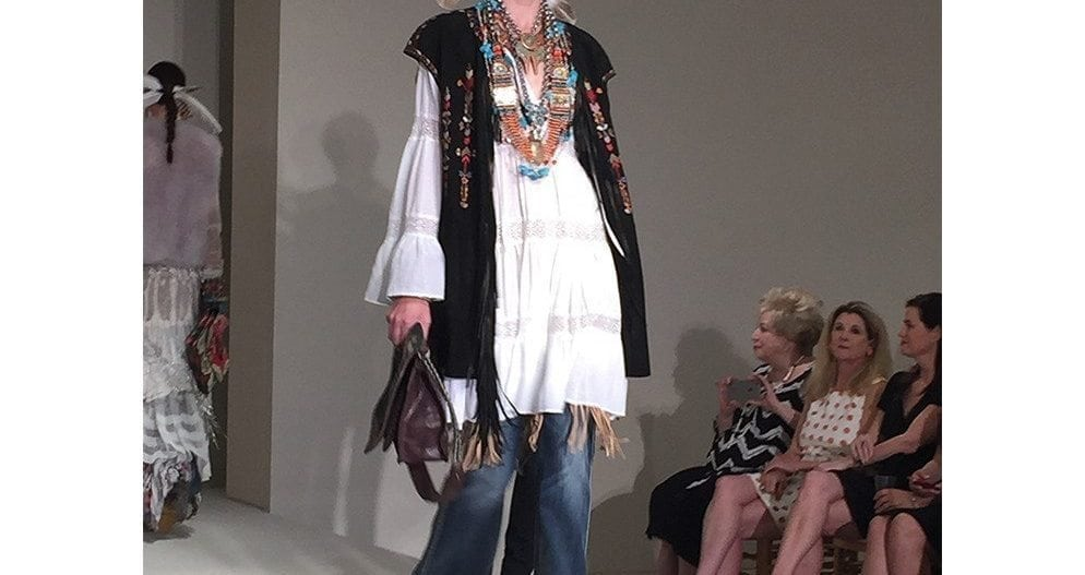 """It's back to the 70's with Bohemian chic, antique lace and turquoise and coral jewelry."""