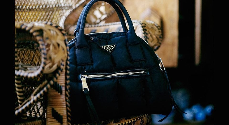 """My Prada. It's a good work handbag, so I'll be wearing that purse forever."""