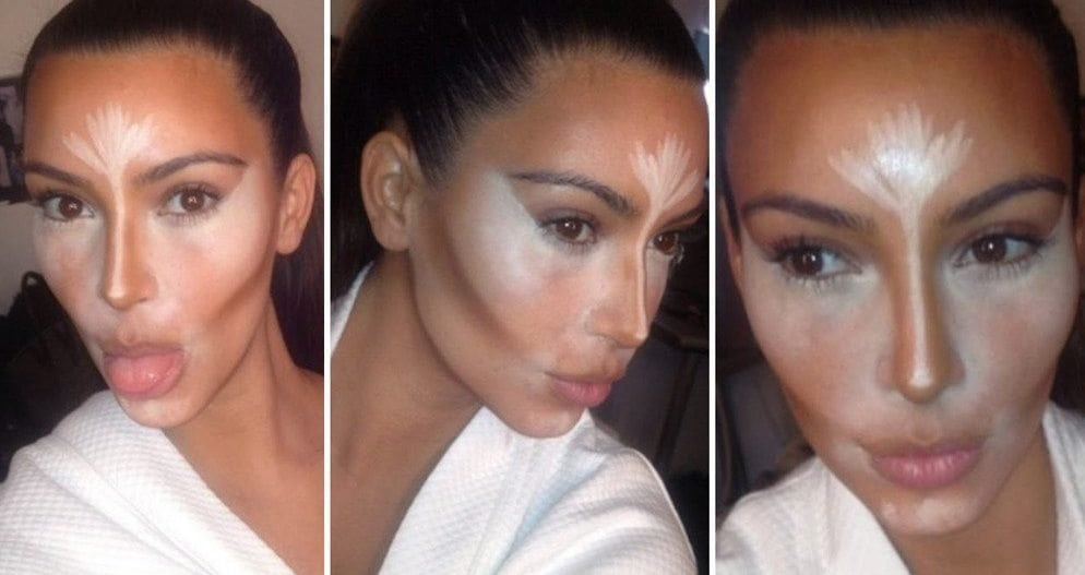 Then there's KK's extreme version of contouring makeup.