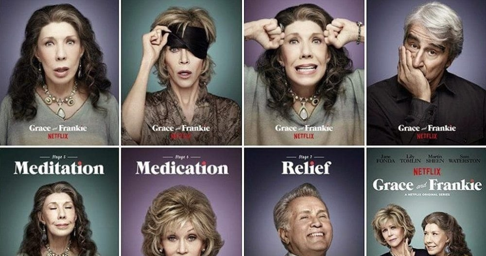 Netflix's <em>Grace And Frankie</em>, with Jane Fonda, Lily Tomlin, Martin Sheen and Sam Waterson