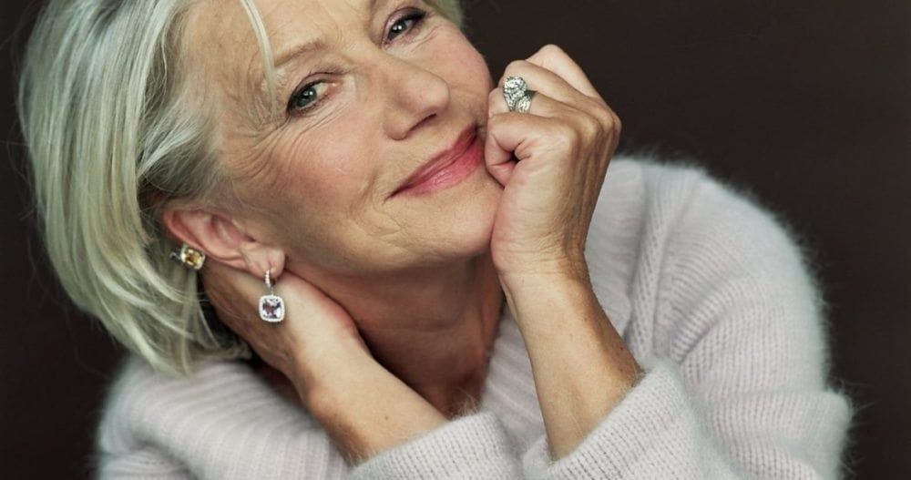 Helen Mirren has a softer approach to her brows.