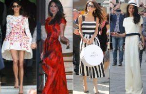 Amal Clooney Wardrobe - Wedding Weekend