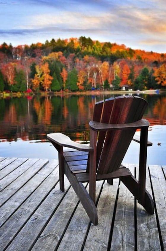 Fall Lakeside Chair