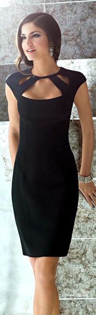 Little black dress with cut outs