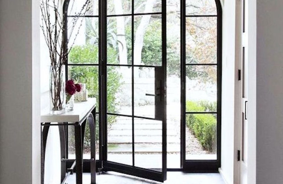 Arched Glass Door