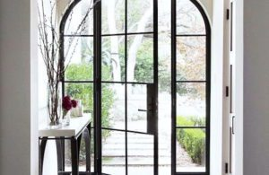 Arched Glass Door