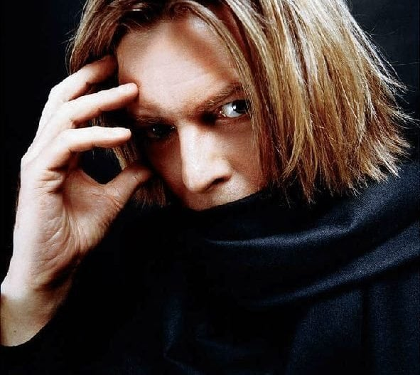 David Bowie with Black Scarf, @Mick Rock, 2002