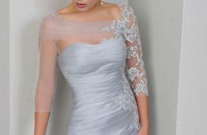 Mother of Bride Blue Dress
