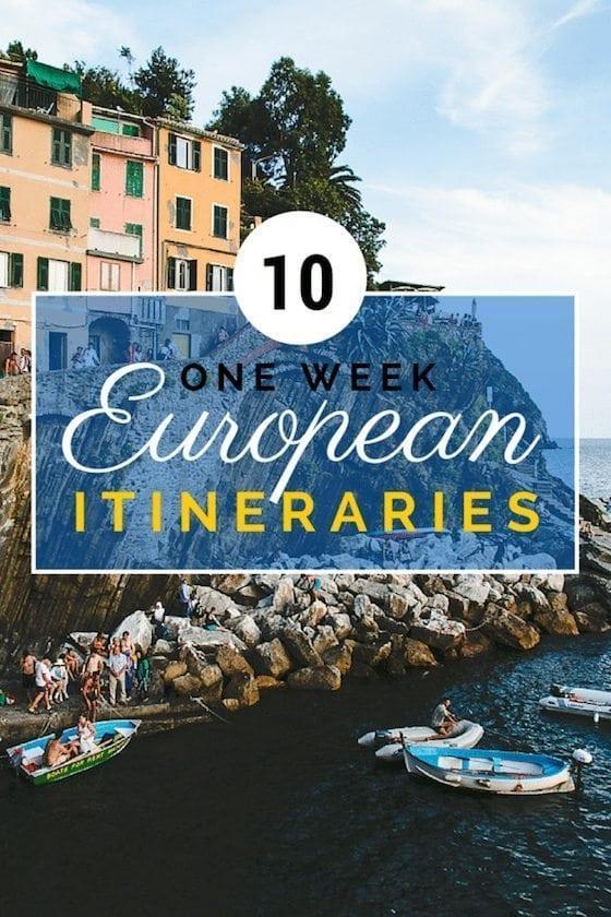 10 Amazing One Week European Itineraries