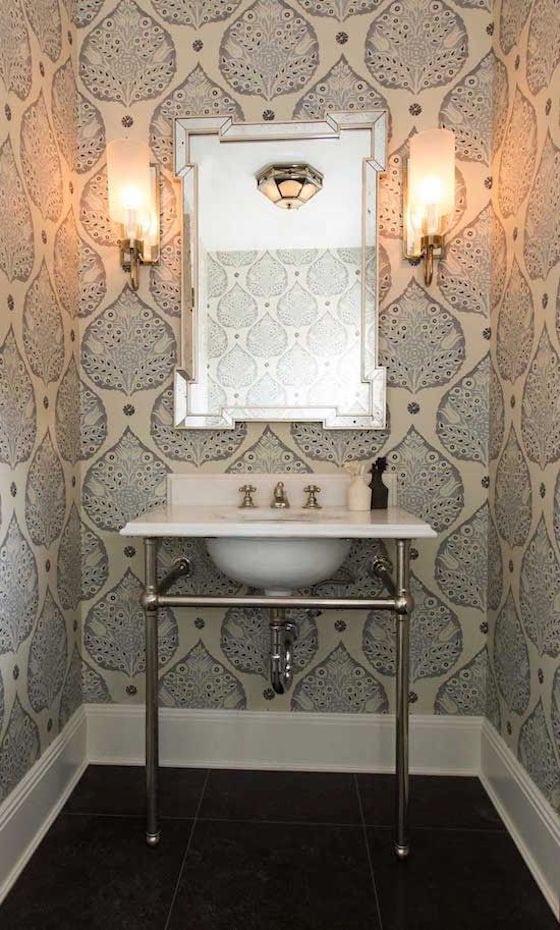 Wallpaper is back 1010 park place - Powder room wallpaper ideas ...