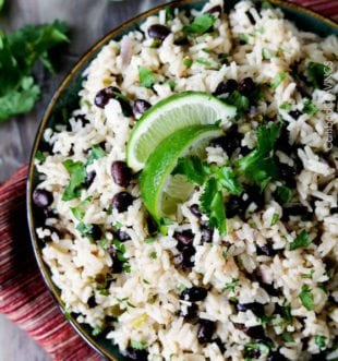 Cilantro Lime Rice with Black Beans