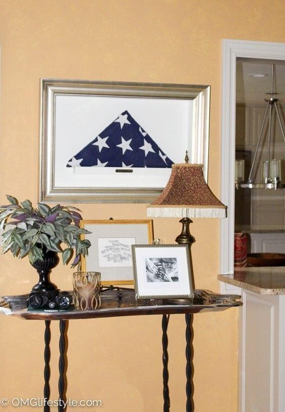 Framed Military Flag