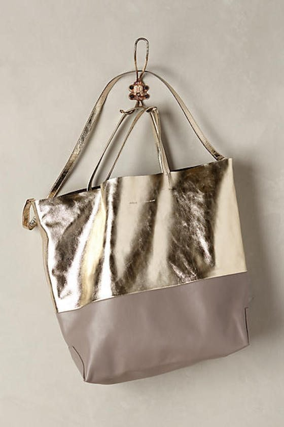 Gold Two Tone Tote
