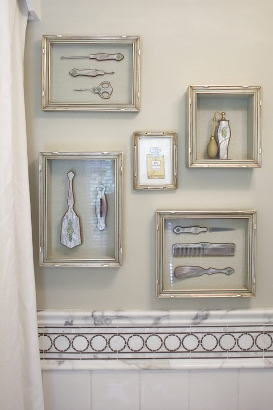 Framing family heirlooms 1010 park place for Bathroom decor frames