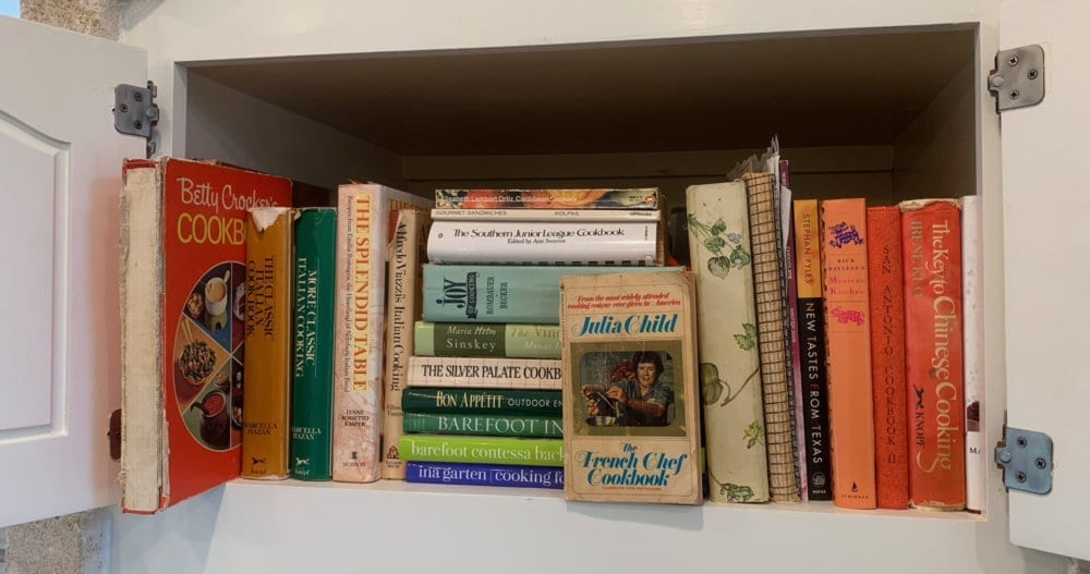The Cookbooks I Kept When I Moved From the Ranch to Town. All photographs ©Brenda Coffee, 2019.