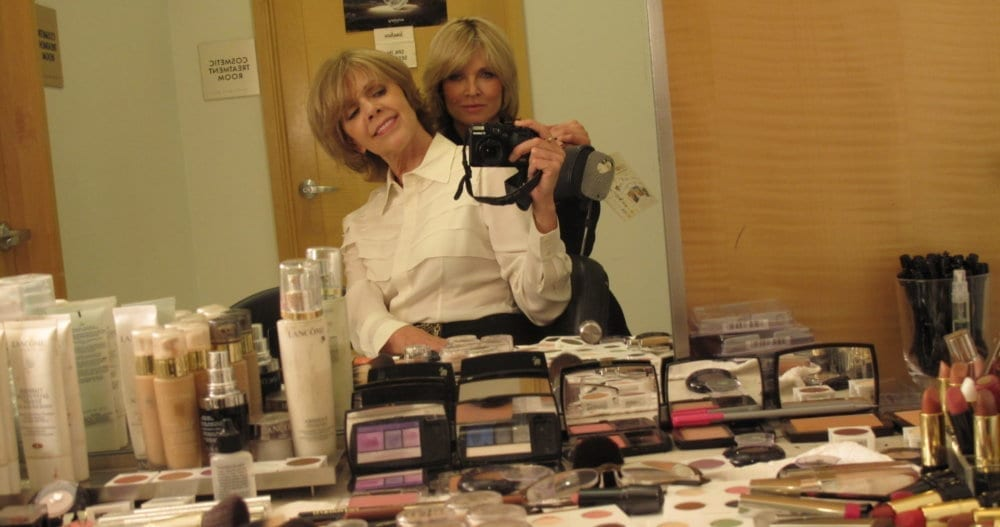 BRENDA COFFEE & SANDY LINTER, 2011. Sandy did not do my makeup the day this photo was taken. We were talking about her new book, Makeup Wakeup. The first time she did my makeup I was 21.