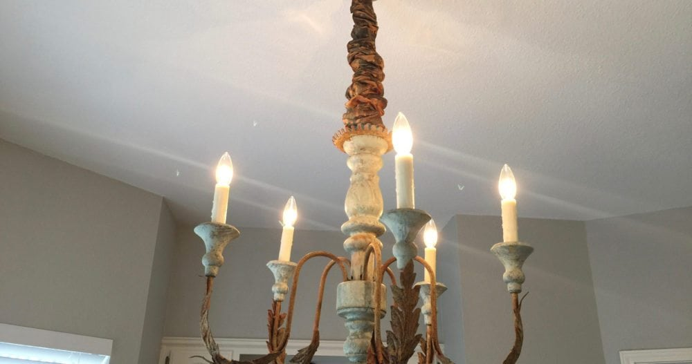 I had two of these chandeliers made for the Little House at the ranch. They