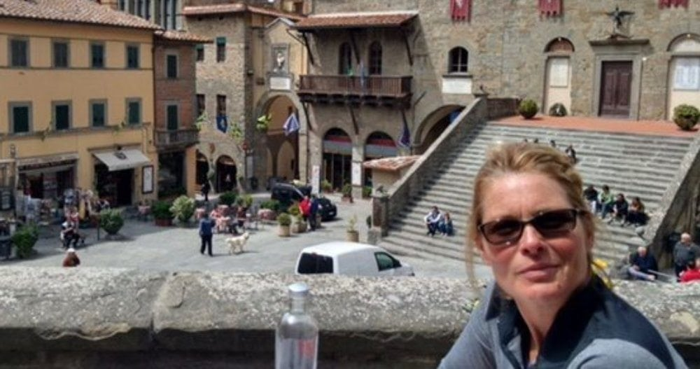 Kim Alexis, lunch in Cortona