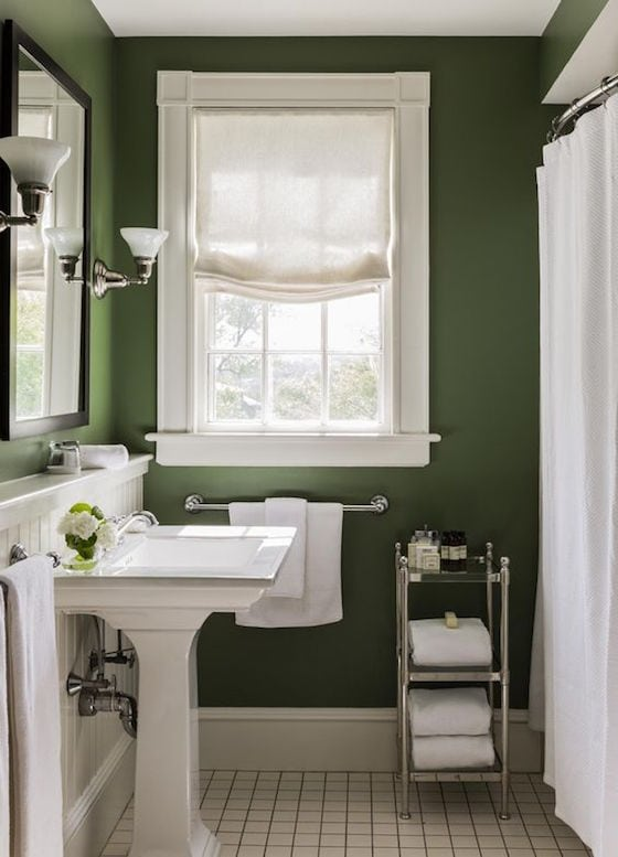 Moss Green Bathroom