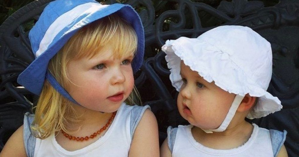 Greta and her older sister, Charlotte, one week after being discharged from Seattle Children