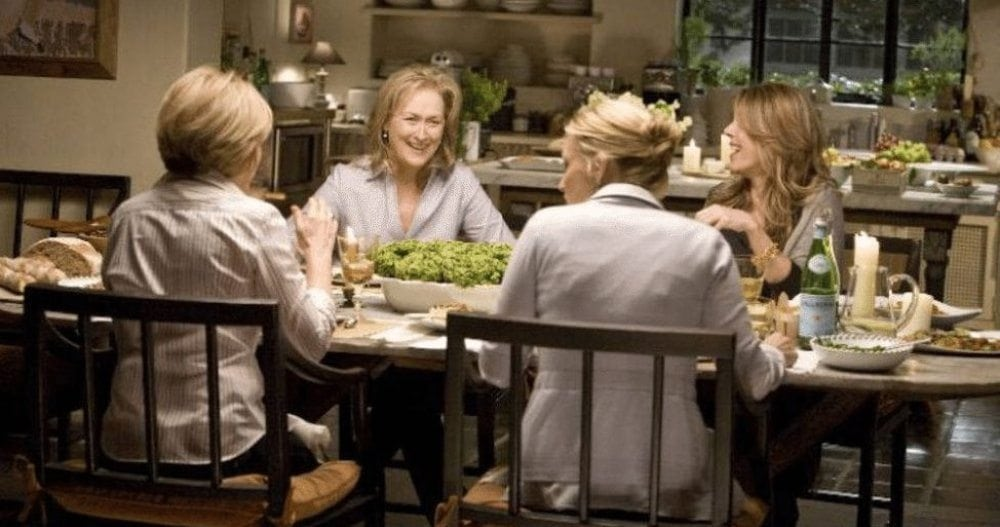 The Importance of Great Girlfriends: Meryl Streep, Rita Wilson, Mary Kay Place and Ali Wentworth in 'It's Complicated.'