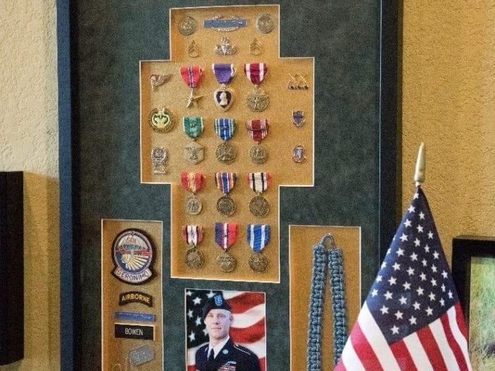 Medals and Awards of Staff Sgt. Clayton P. Bowen