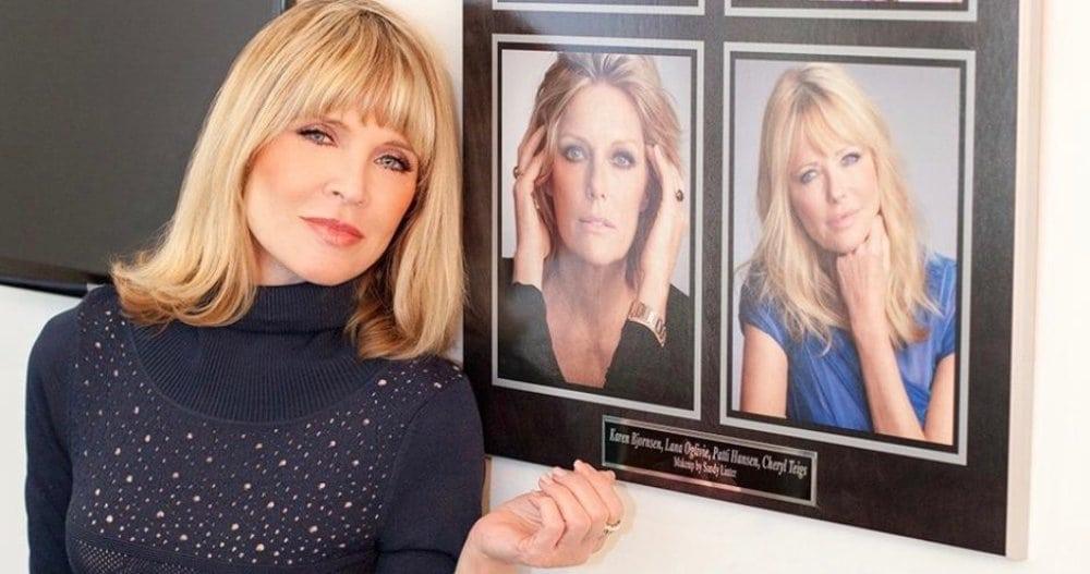 In her makeup studio at Rita Hazan, 2015. Photo by Jennifer Denton.