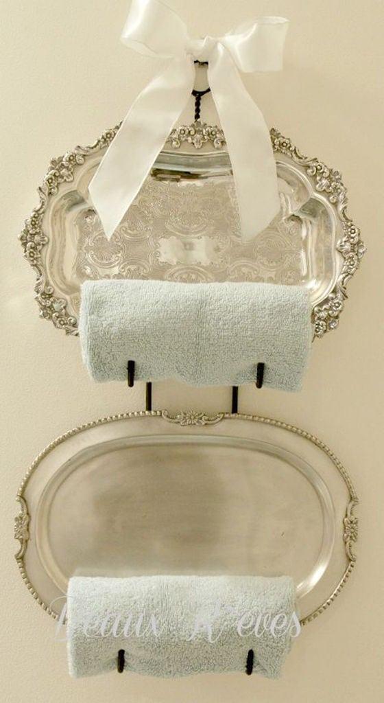 Silver Towel Rack