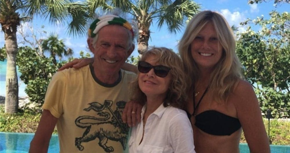 With the Richards--Patti & Keith--on their surf and turf, August, 2016.