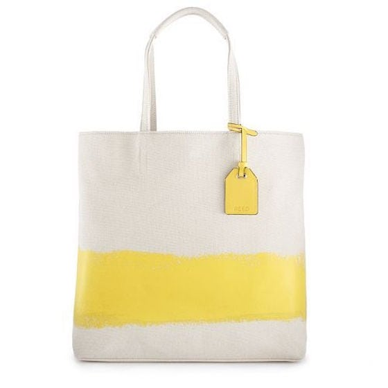 Yellow Abstract Tote