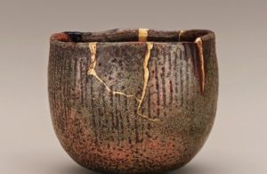 Wabi-Sabi and Kintsugi Japanese pottery.